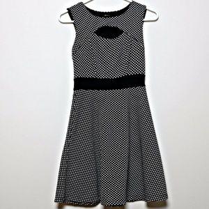 Monteau Polka Dot Skater Dress
